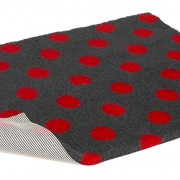 Contemporary Living - Polka Dot - Charcoal & Red