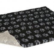 Non-Slip Vetbed - Black With Grey Paws
