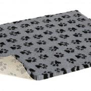 Non-Slip Vetbed - Grey With Black Paws