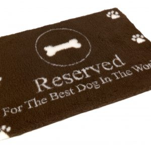 "Non Slip dog bedding ""Reserved for the Best Dog in the World"" Design"