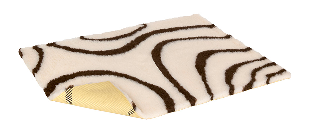 Vetbed Non-Slip - Swirl - Cream & Brown