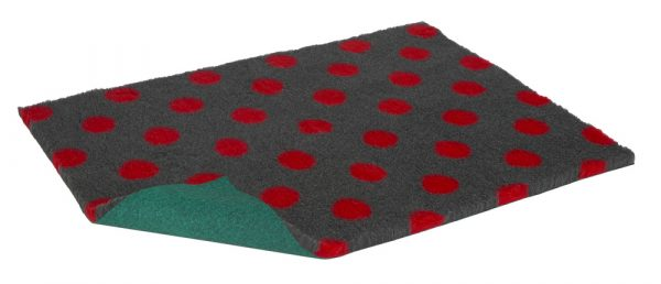 Vetbed Charcoal Red dot